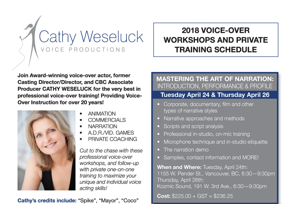 Cathy Weseluck Voice Productions - Voice-Over Actress
